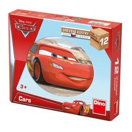 Dino Dřevěné kostky  Cars ve světě 12ks