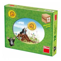 Dino Dřevěné kostky Krtkův rok 12ks