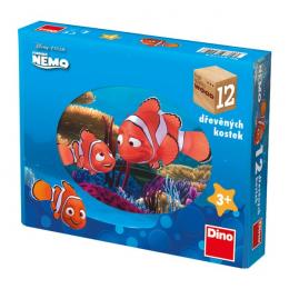 Dino Dřevěné kostky Nemo 12ks