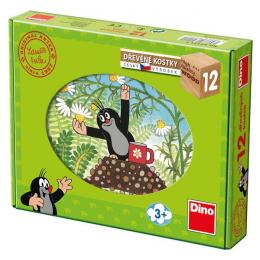 Dino Dřevěné kostky Krtek a přátelé 12ks